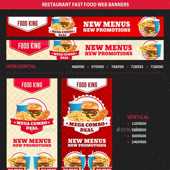 Restaurant Fast Food Web Banners