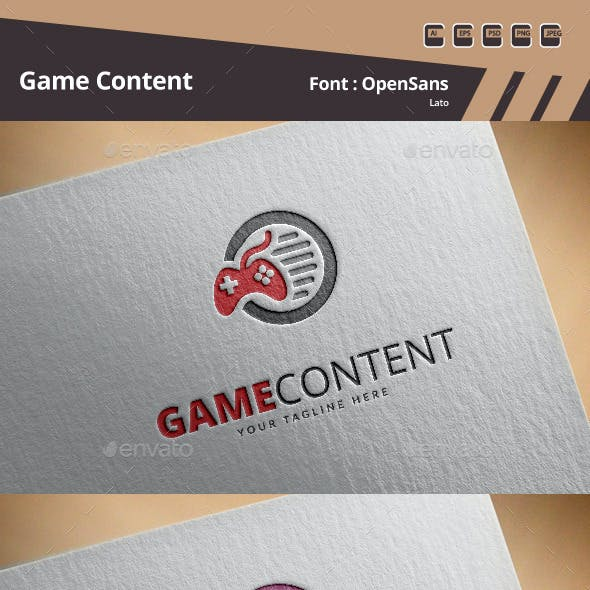 Game Content Logo Template