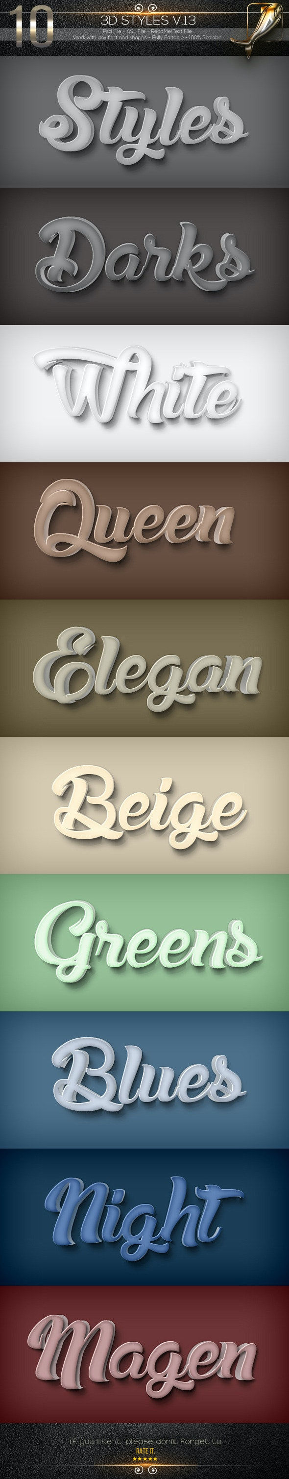 10 3D Styles V.14 - Text Effects Styles