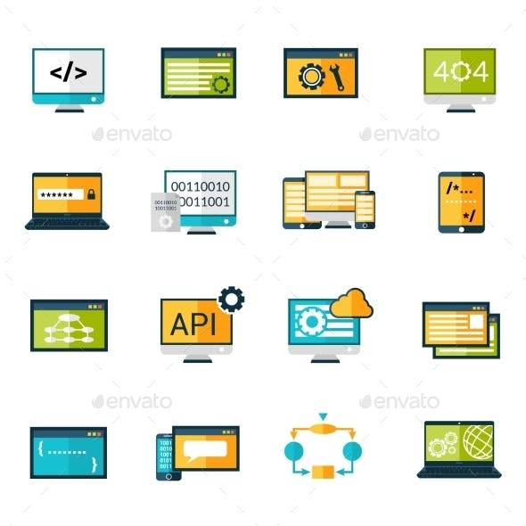 Programming Icons Set