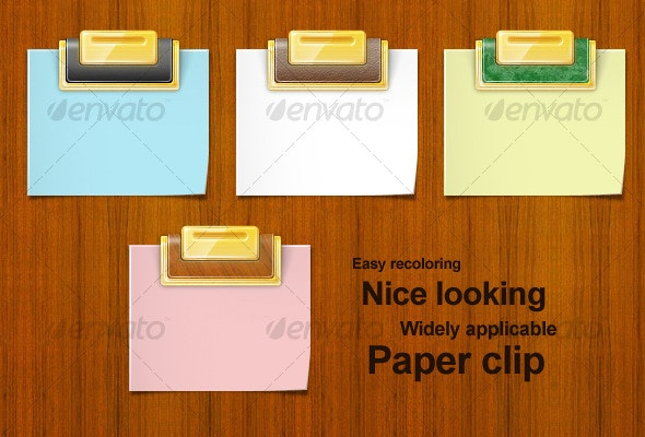 Web Content Box with Paperclip, Shadows, Page curl - Miscellaneous Web Elements