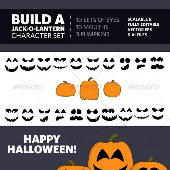 Build A Jack-O-Lantern Character Set