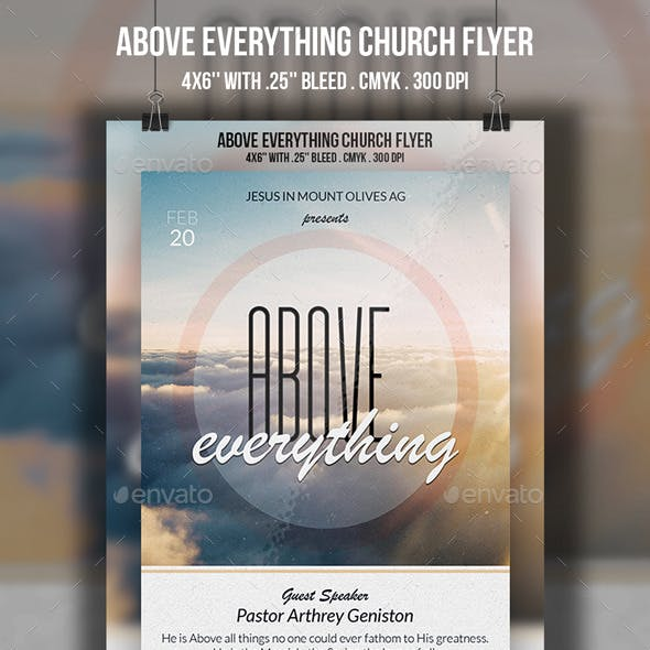Above Everything Church Flyer