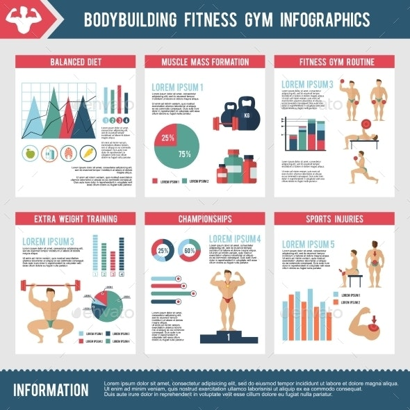 Bodybuilding Fitness Gym Infographics - Infographics