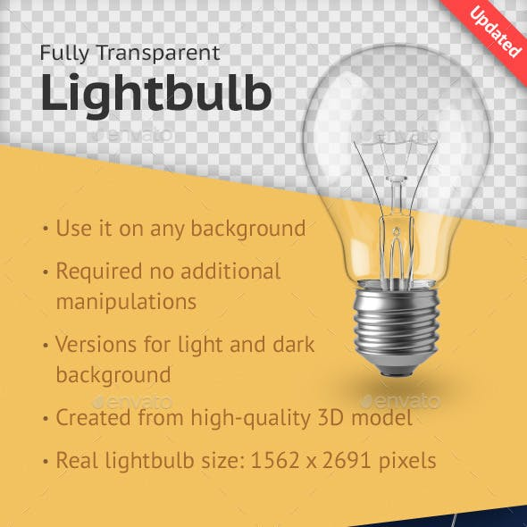 Fully Transparent Lightbulb