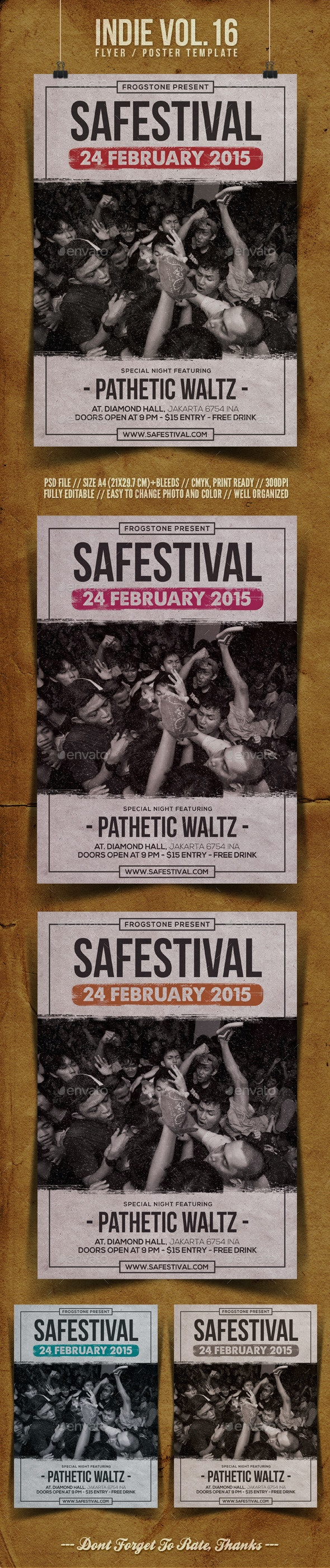 Indie Flyer Template Vol.16 - Concerts Events