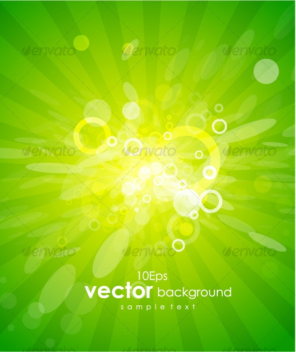 Green shiny vector background - Nature Conceptual