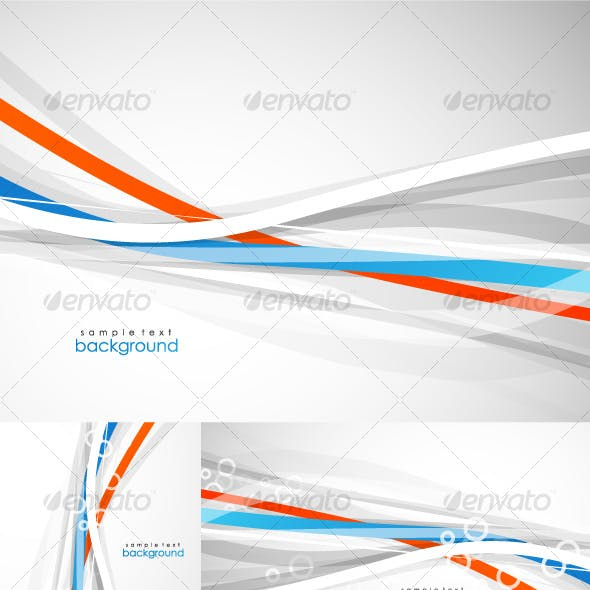 Abstract lines. Vector background pack