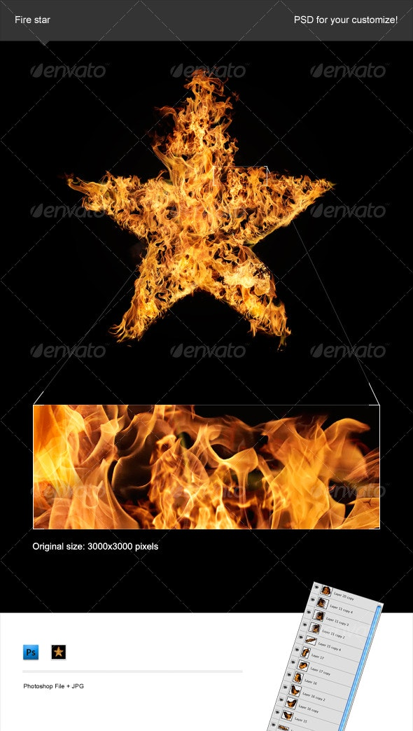 Fire Star - Decorative Symbols Decorative