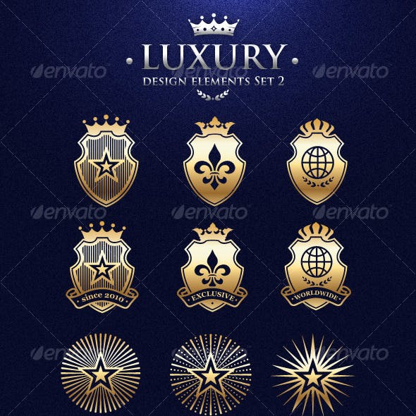 Vector Luxury Design Elements Set 2