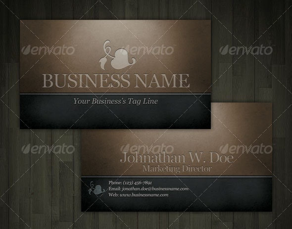 Engraved Dark Classic Business Card - Grunge Business Cards