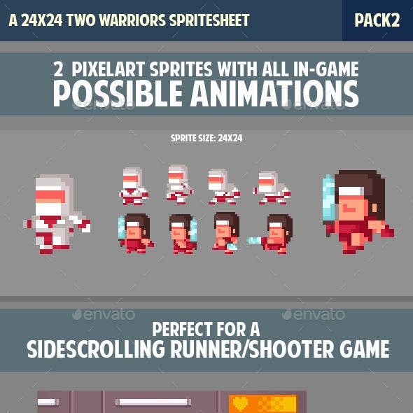 Warrior/Ninja Spritesheet Pack2