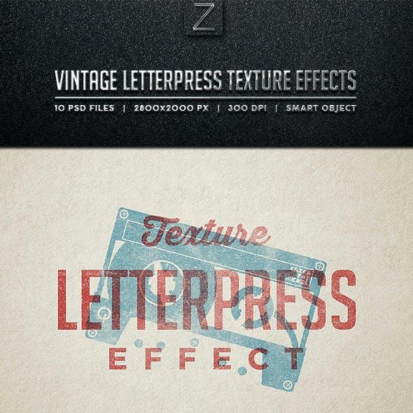Vintage Letterpress Texture Effects