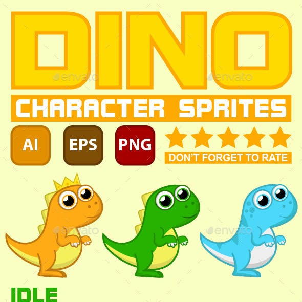 Dino Character - Game Sprite