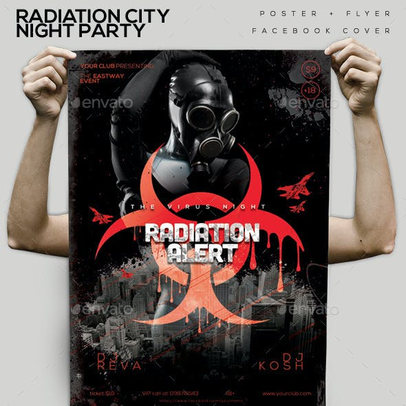 Radiation City Night Party Flyer/Poster/Facebook C