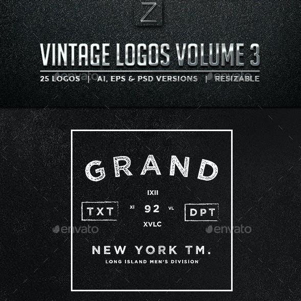 Vintage Logos & Badges Set 3