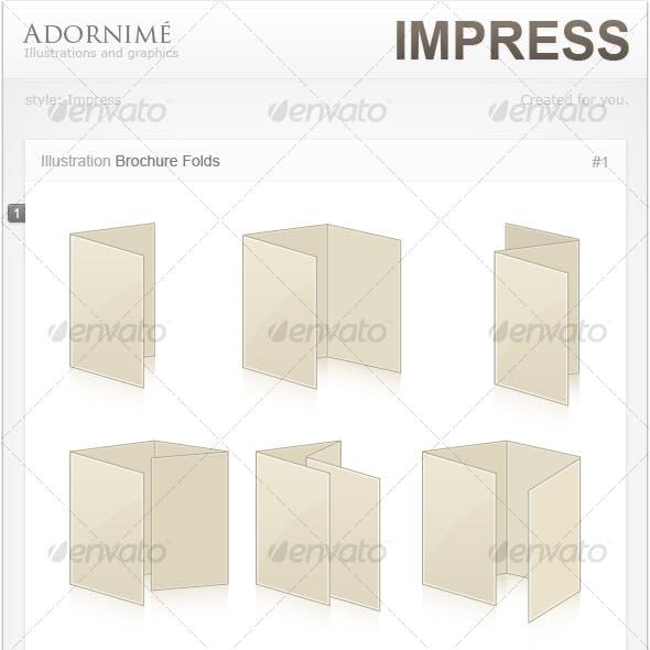 Adornimé: Impress Style. Brochure Folds