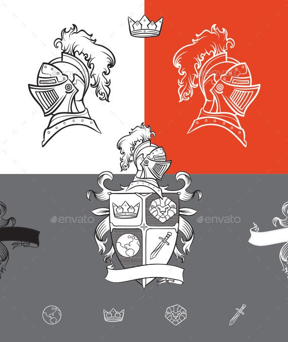 Medieval Ornaments - Flourishes / Swirls Decorative