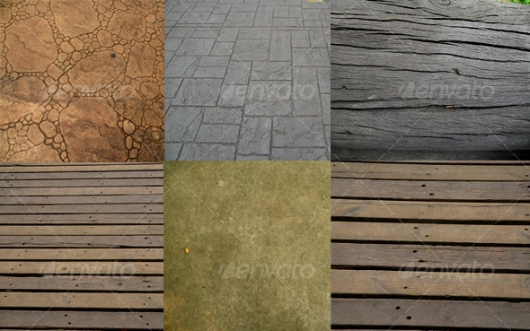 Wood and Concrete Texture 6 pictures - Miscellaneous Textures