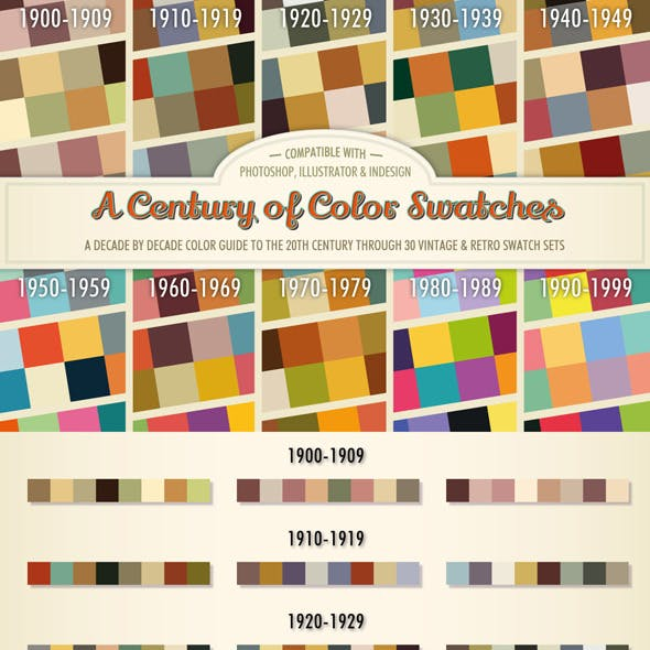 A Century of Color - Retro Swatches