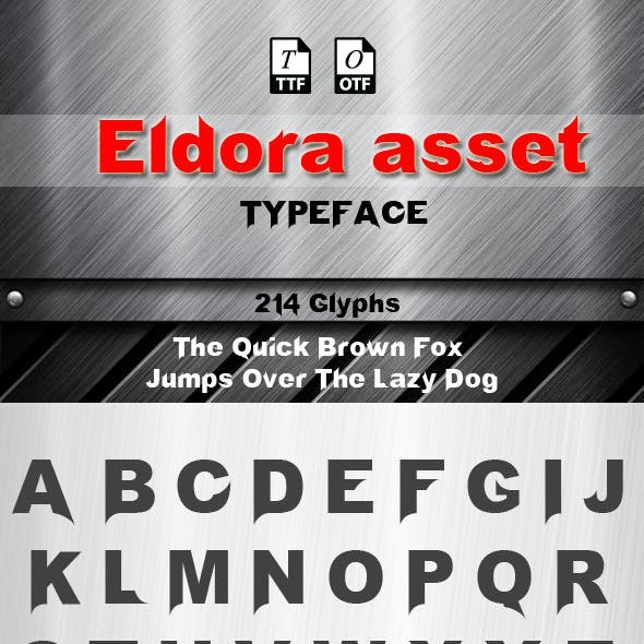 Eldora Asset Font