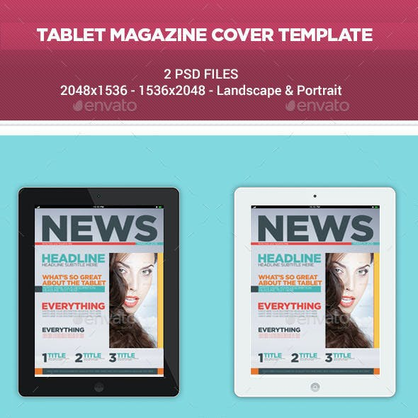 Tablet Magazine Cover Template