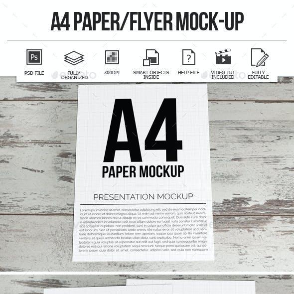 A4 Paper / Flyer Mock-Ups