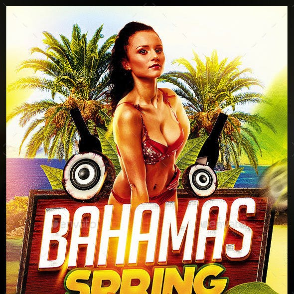 Bahamas Spring Party Flyer Template