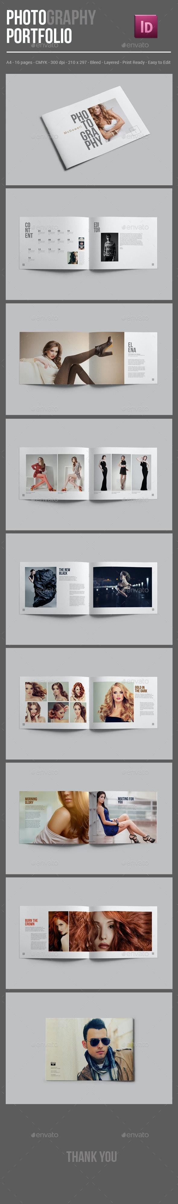 Photography Portfolio Brochure Template - Portfolio Brochures