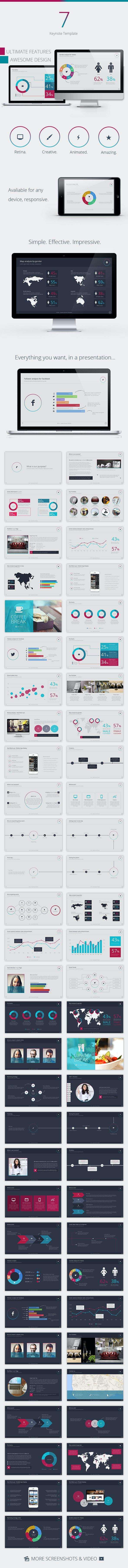 Se7en Keynote Template - Creative Keynote Templates