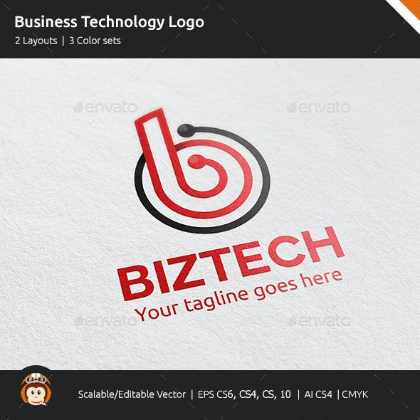 Business Technology Letter B Logo