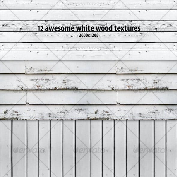 12 White Wood Textures