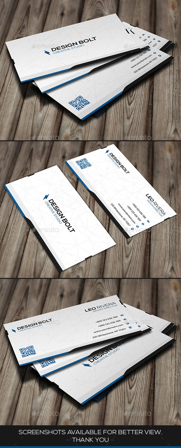 Bolt Modern Business Card By Infenixx Graphicriver
