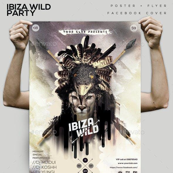 Ibiza Wild Flyer/ Poster/ Facebook cover