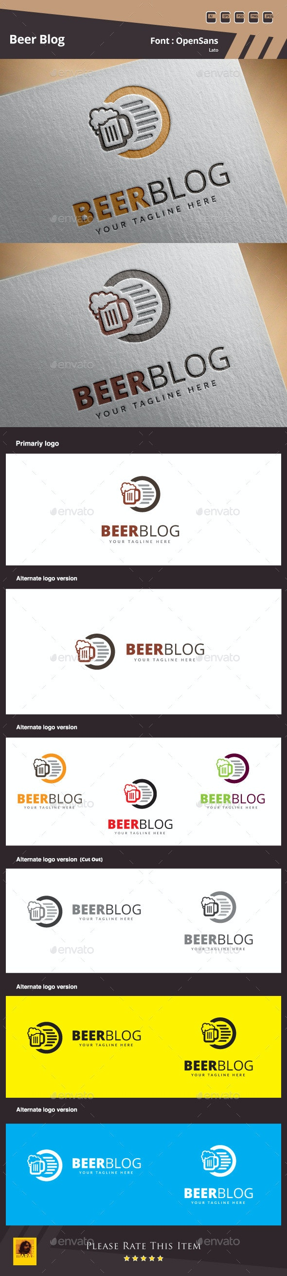 Beer Blog Logo Template
