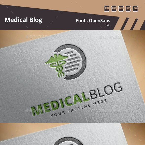 Medical Blog Logo Template