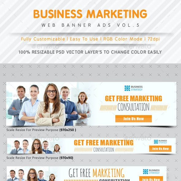 Business Marketing Web Banner Ads Vol.5
