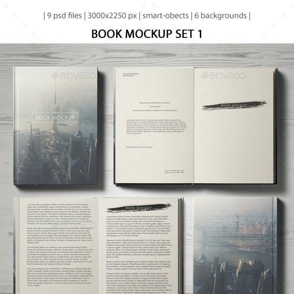 Book Mockup Set 1