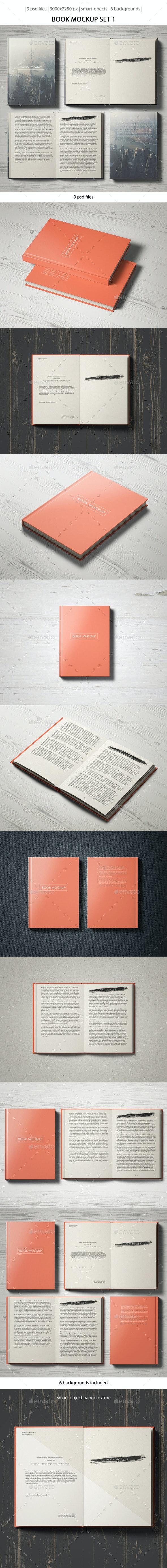 Book Mockup Set 1 - Books Print