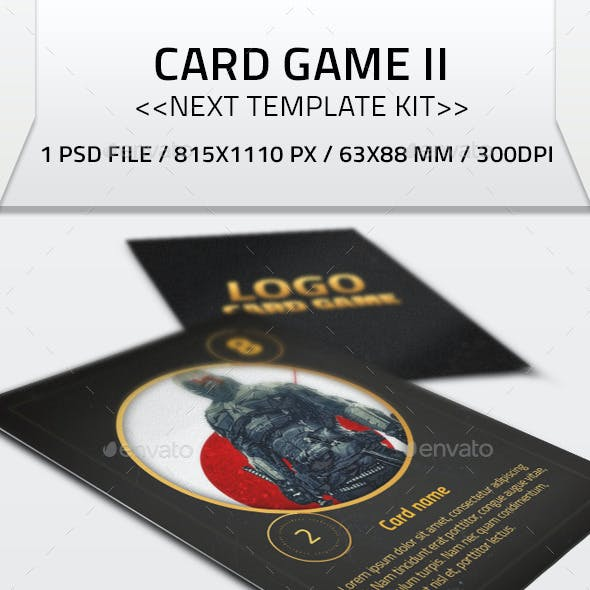 Card Game II Kit Template