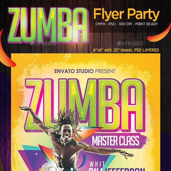 Zumba Master Class Flyer