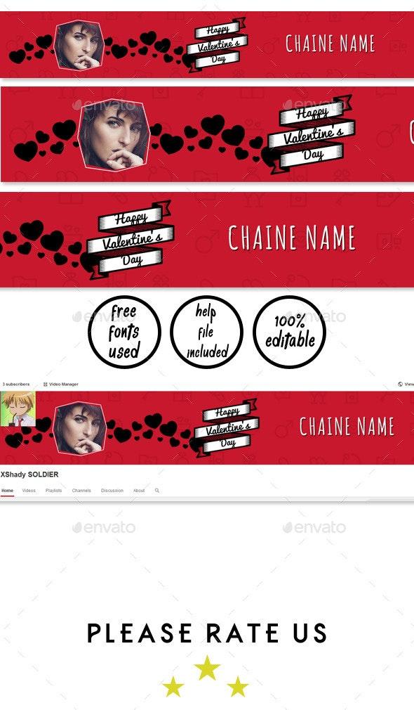 Elegant Red YouTube Banner - YouTube Social Media