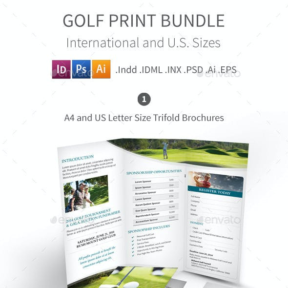 Golf Tournament Print Bundle