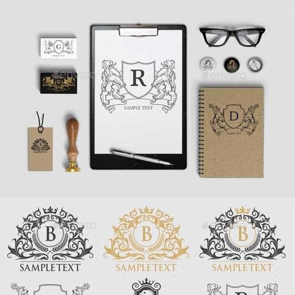 8 Emblem Vector - Heraldy Theme