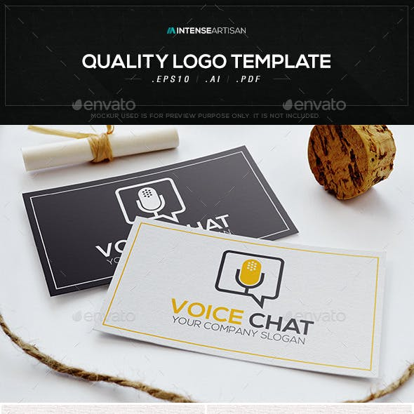 Voice Chat Logo Template