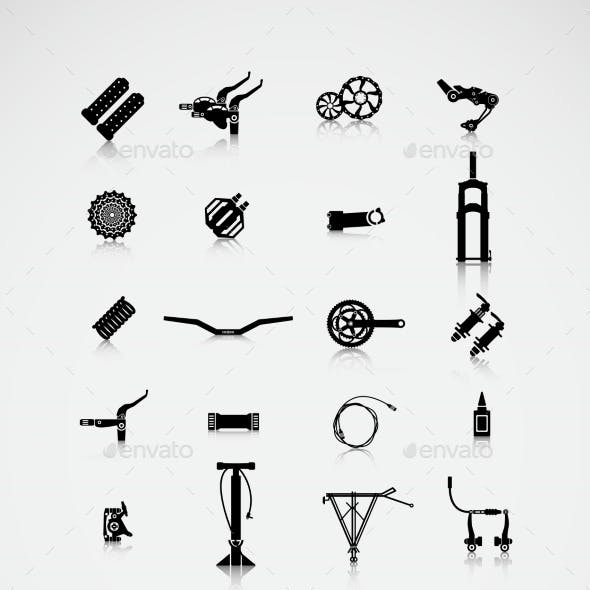 Set of Accessories for a Bike