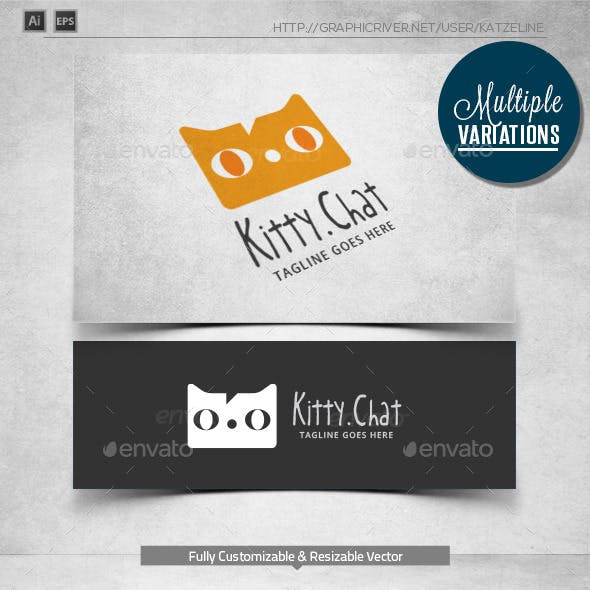 Cat Chat - Logo Template