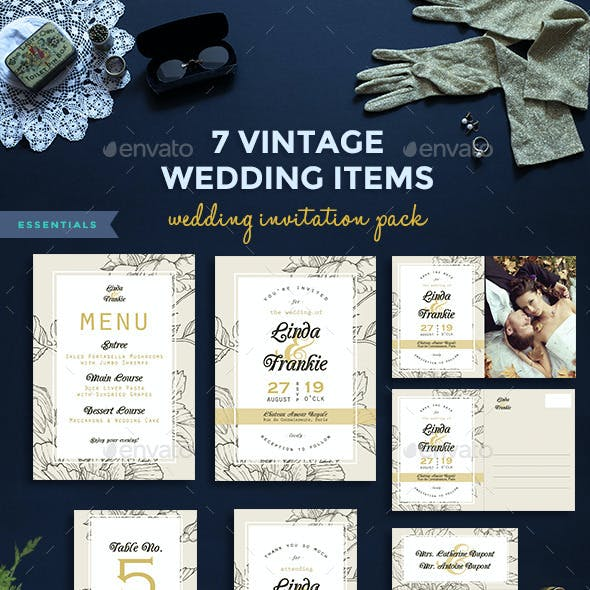 7 Vintage Items - Wedding Pack II