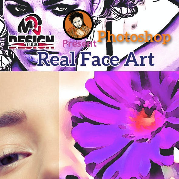 Real Face Art Action