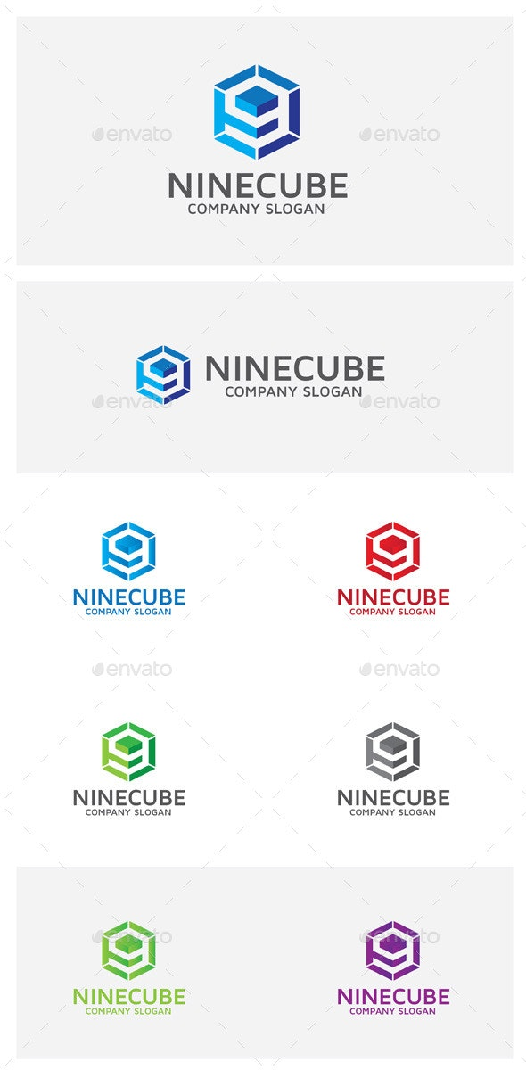 Ninecube - Numbers Logo Templates